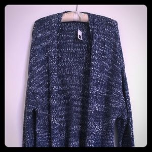 New GAP long blue & white duster cardigan